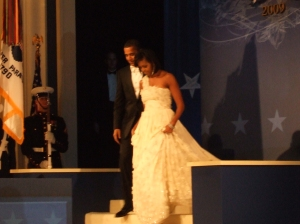 Here they come...Mr and Mrs America